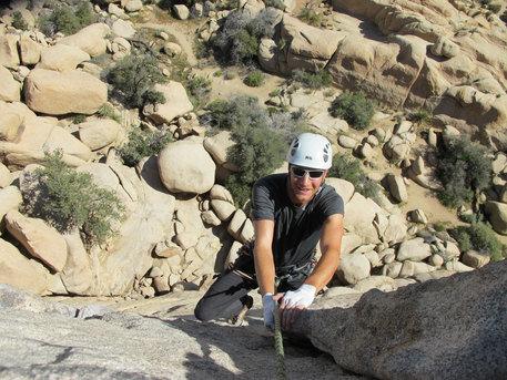 Fantastic trad climbing in Joshua Tree, USA