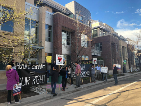 Community Members March to Home of Colorado Gov. Jared Polis, Demand Tax on Wealthy, End of Fossil F