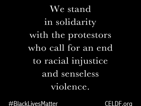 EBCU stands with CELDF in support of Black Lives Matter