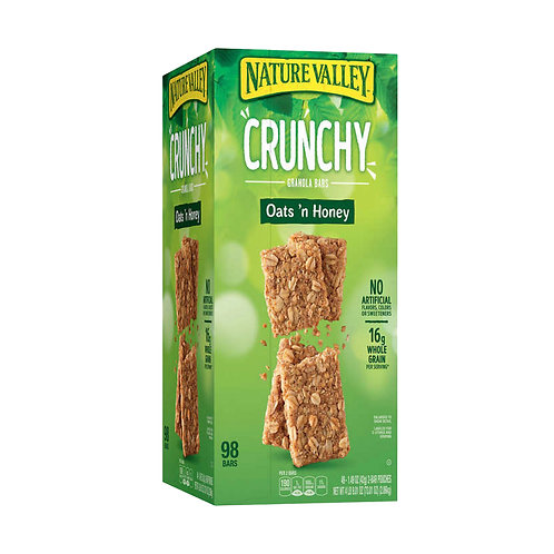 Nature Valley Crunchy Oats'n Honey Granola Bars, 98-count