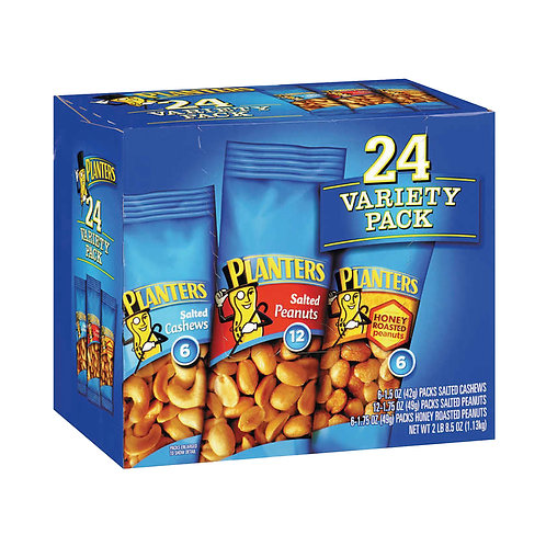 Planters Cashew & Peanut Variety Pack, 24-count