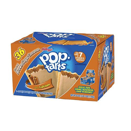 Kellogg's Pop-Tarts, Frosted Brown Sugar Cinnamon, 3.52 oz, 36 ct