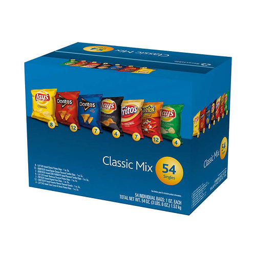 Frito-Lay Classic Mix, Variety Pack, 1 oz, 54 ct