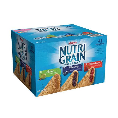 Nutri-Grain Soft Baked Cereal Bars Variety Pack 1.3 oz, 48-count