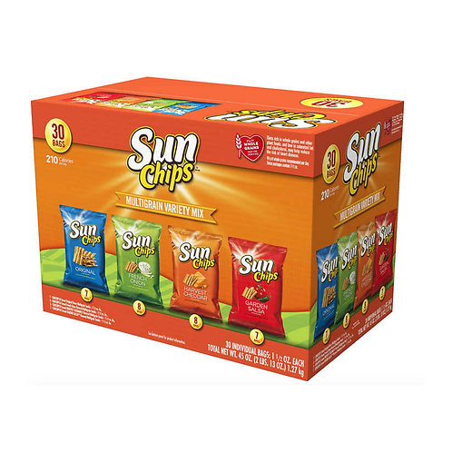 Sun Chips Multigrain Snack Bags Variety Pack 1.5 oz, 30-count