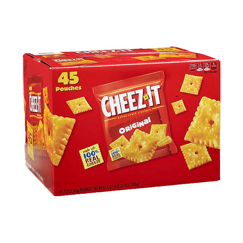 Cheez-It Crackers, Cheddar, 1.5 oz, 45 ct