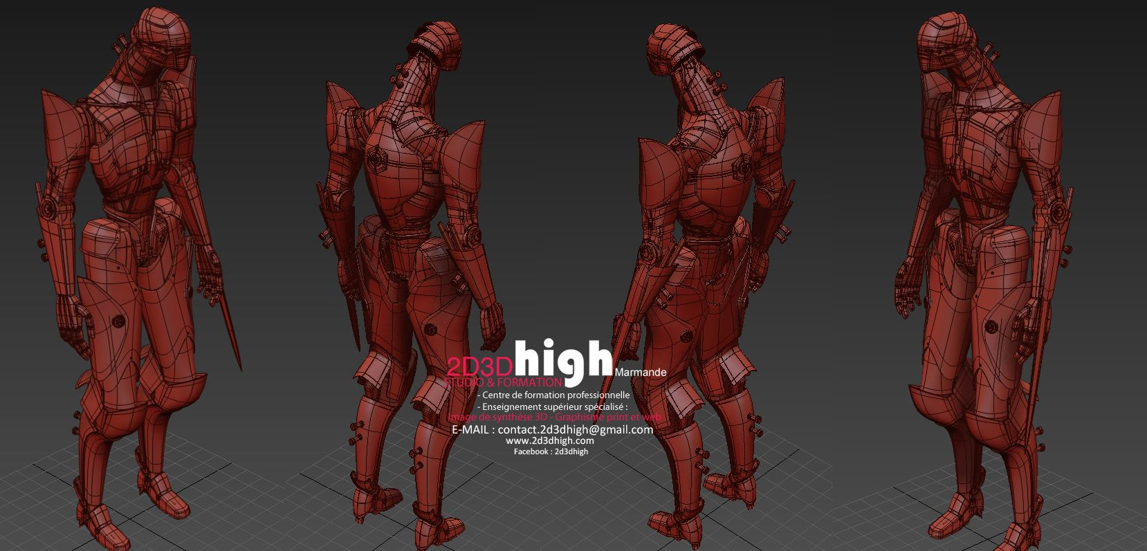 Mecha Design - Wireframe