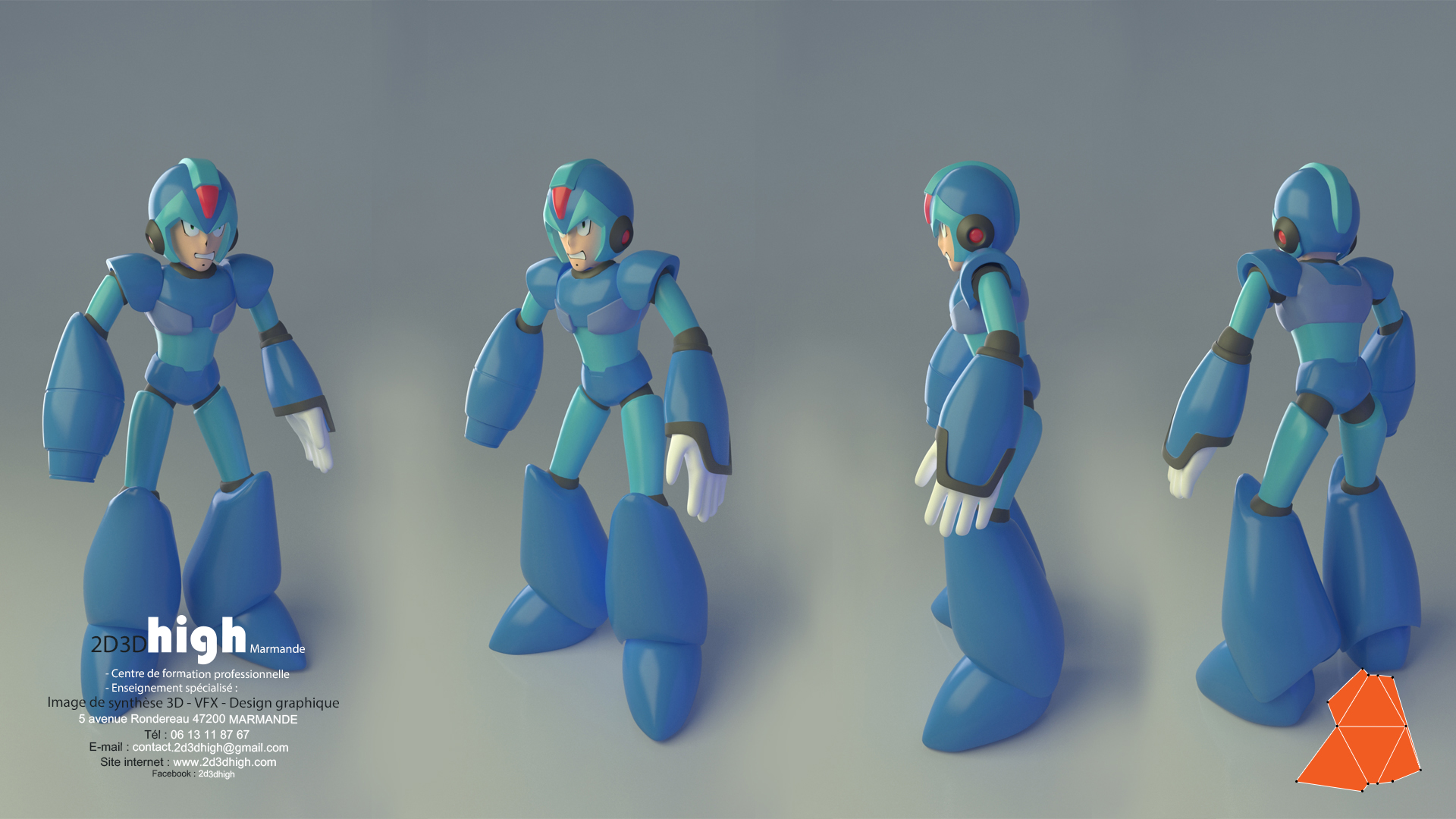 Megaman_turn around