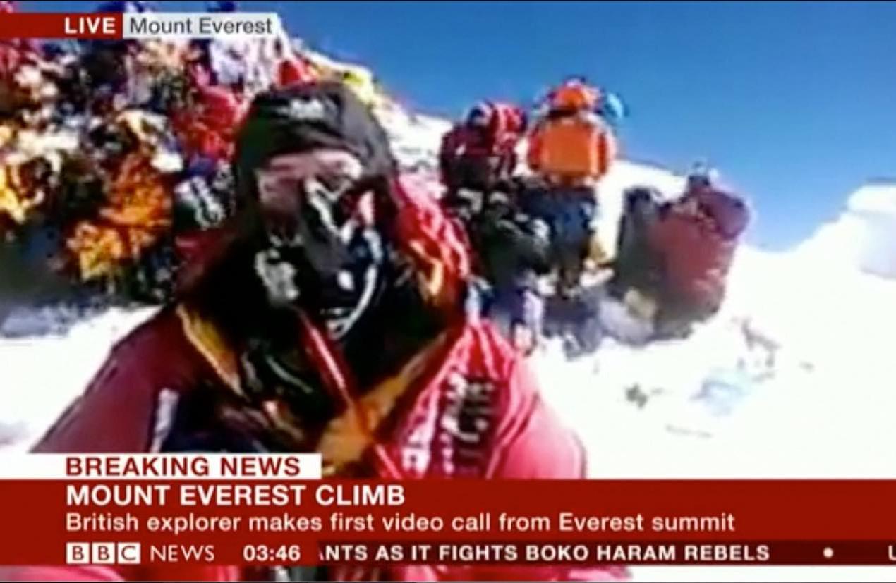Worlds Highest Video Broadcast