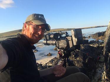 Josh Jaggard Filming for BBC Springwatc