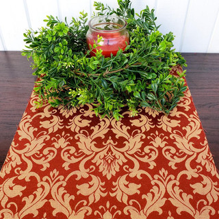 Gold and Maroon Table Runner