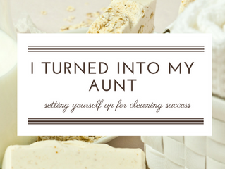 I Turned Into My Aunt - Setting Yourself Up for Cleaning Success