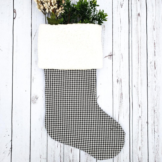 Black and White Sherpa Stocking