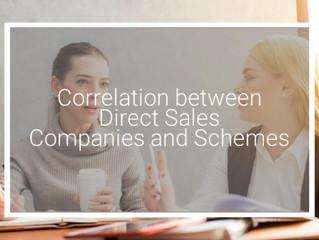 Correlation between Direct Sales Companies and Schemes