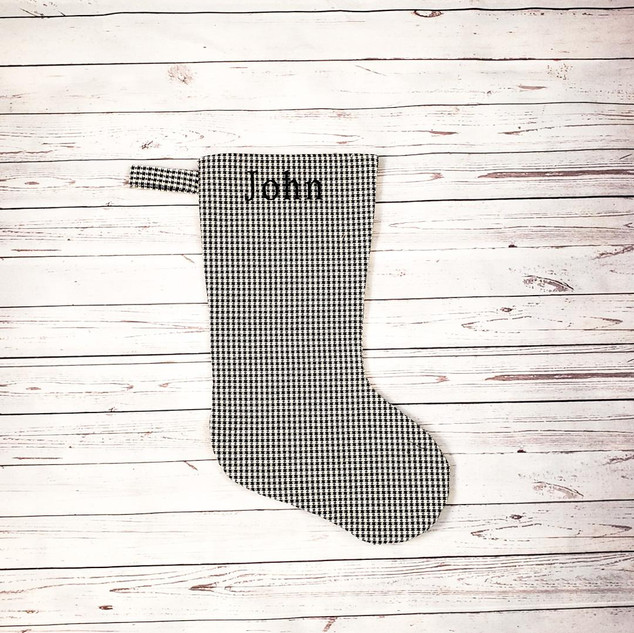 No Cuff Houndstooth Stocking
