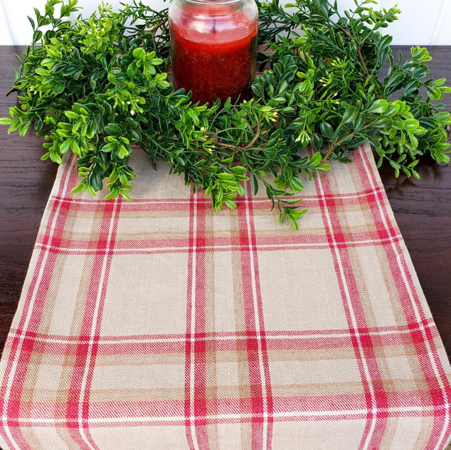 Rustic Plaid Christmas Table Runner