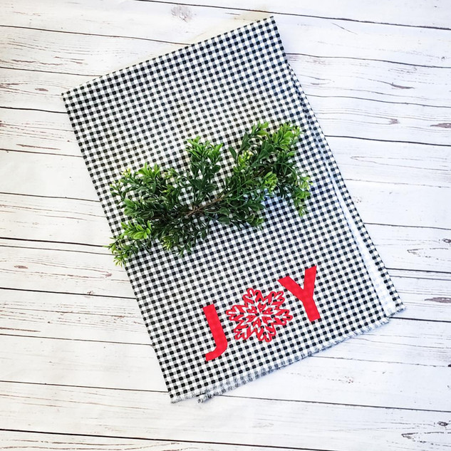 Joy Black and White Table Runner