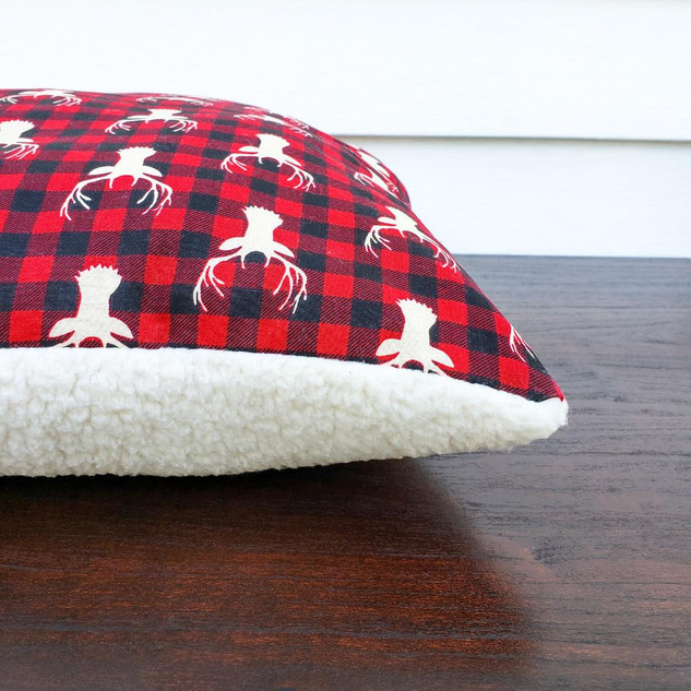 Deer and Sherpa Pillow