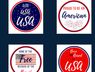 Independence Day Cupcake Toppers - Free Printables