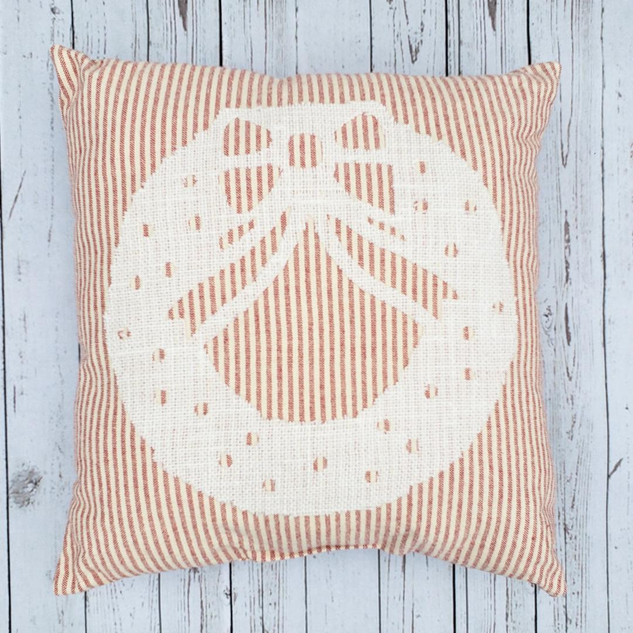 Farmhouse Christmas Wreath Pillow
