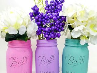 Easy & Cheap Craft Night - DIY Painted Mason Jars