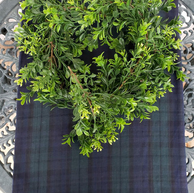 Green Plaid Table Runner