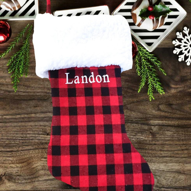 Red Buffalo Plaid Stocking