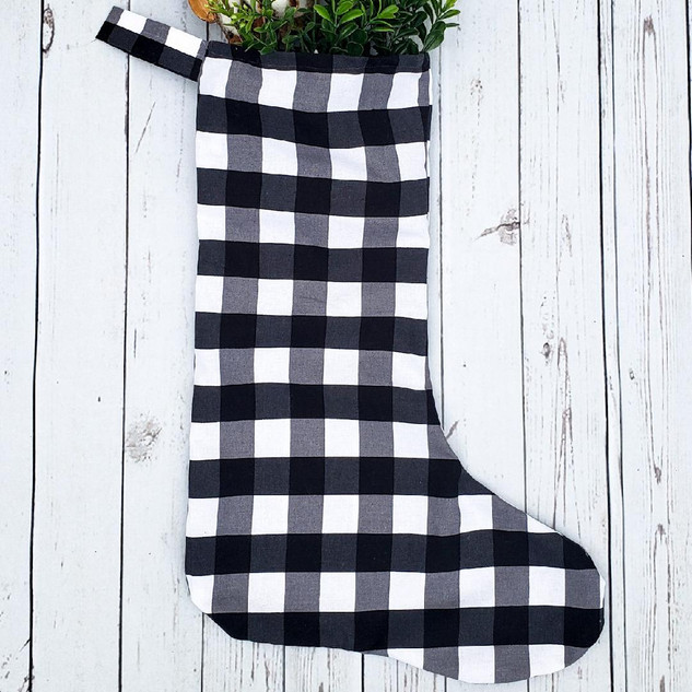 No Cuff Buffalo Plaid Stocking