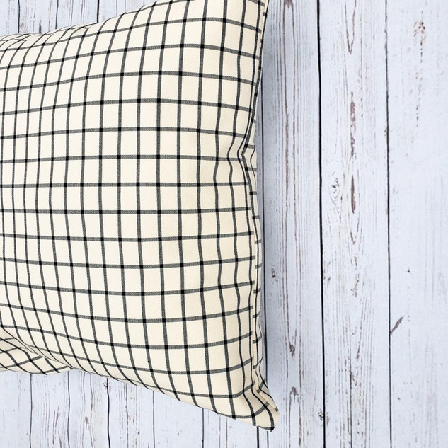 Black Check Pillow