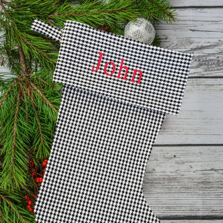 Hounstooth Personalized Stocking