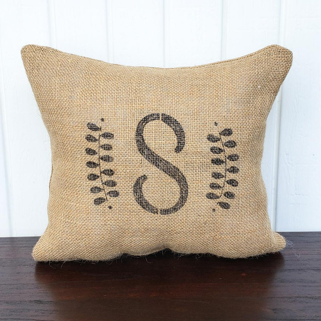 Burlap Personalized Pillow