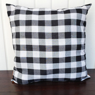 Black and White Buffalo Plaid Pillow