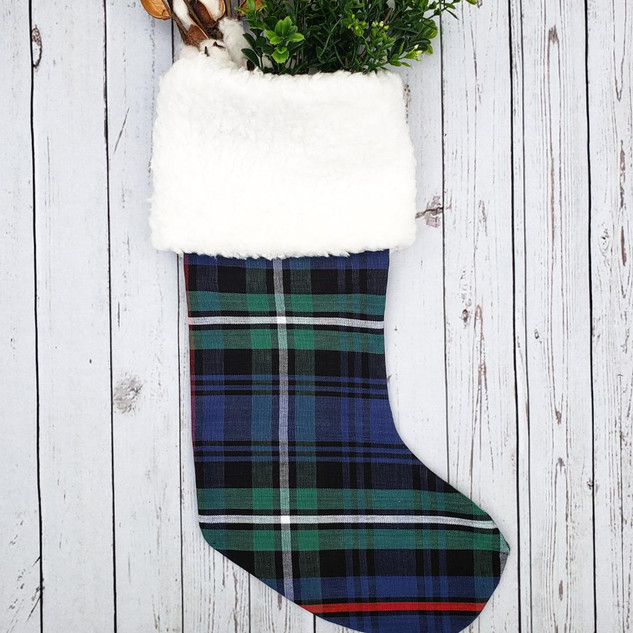 Plaid and Sherpa Stocking