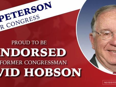 Former Republican Congressman Dave Hobson Endorses Bob Peterson for Congress