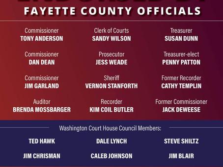 Fayette County Leaders Endorse Bob Peterson for Congress