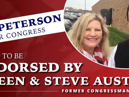 Former Republican Congressman Steve Austria Endorses Bob Peterson for Congress