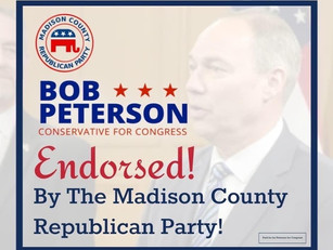 Madison County Republicans Overwhelmingly Endorse Peterson for Congress