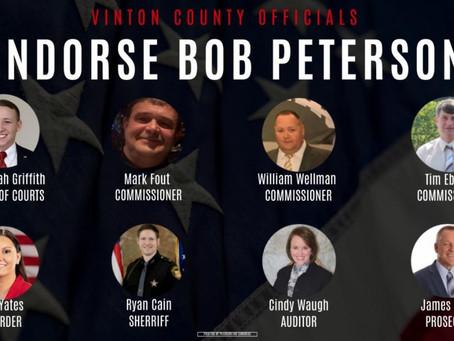 Vinton County Leaders Endorse Bob Peterson for Congress