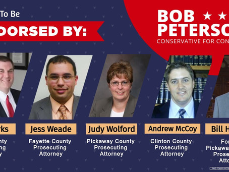 County Prosecutors Endorse Bob Peterson for Congress