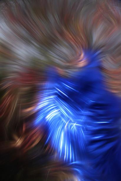 BlueWomanInTheGreen I, 2020