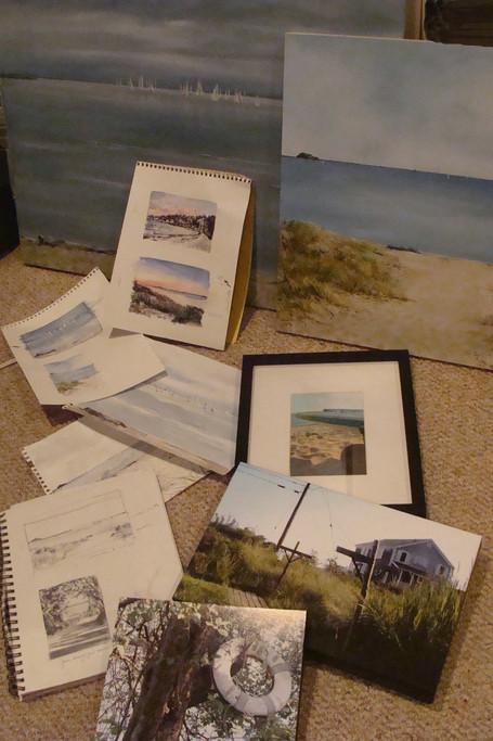 Shoreline sketches and photos