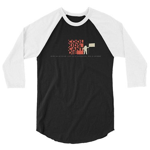 "Official ""CKCD"" 3/4 sleeve raglan shirt (light/dark)"