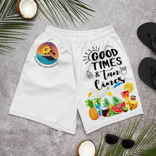 """Good Times & Tan Lines"" Athletic/Swim Shorts"