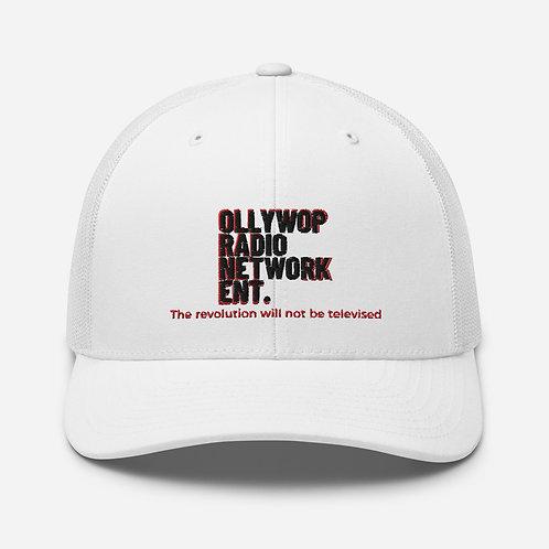 """Ollywop Radio Network Ent."" Trucker Cap (Black/Red/White)"