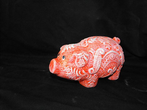 Lace pig bank