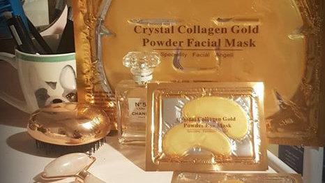 Crystal collagen gold powder facial mask set