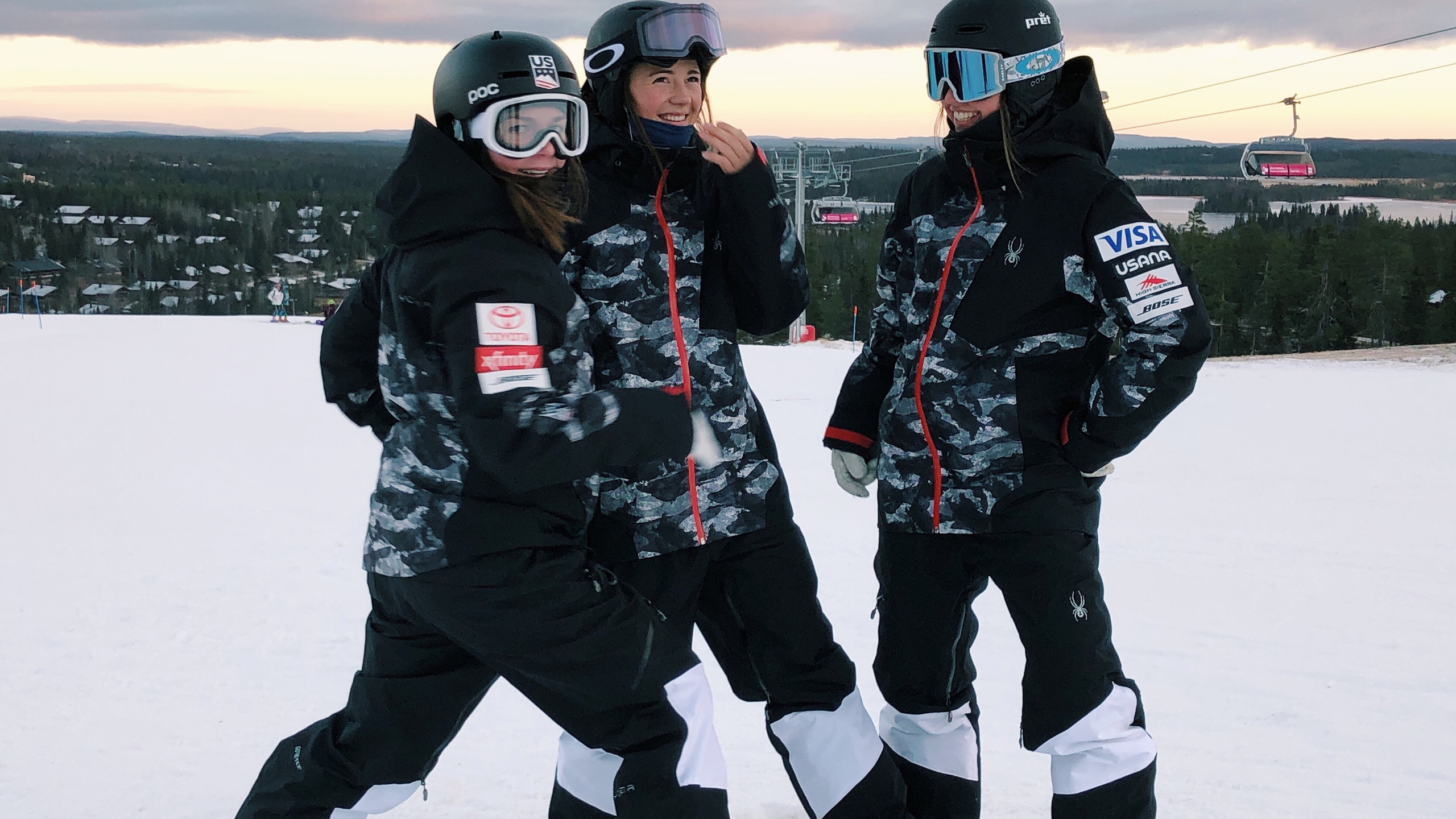 My Teammates and I in Finland