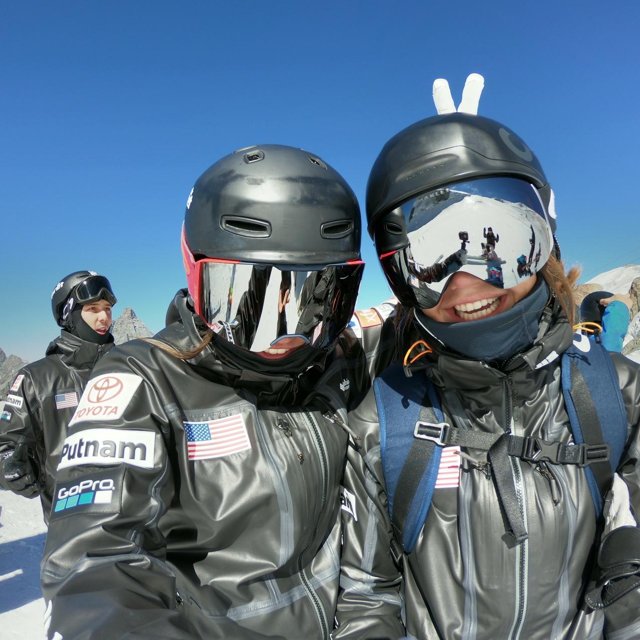 My teammate Jaelin and I!