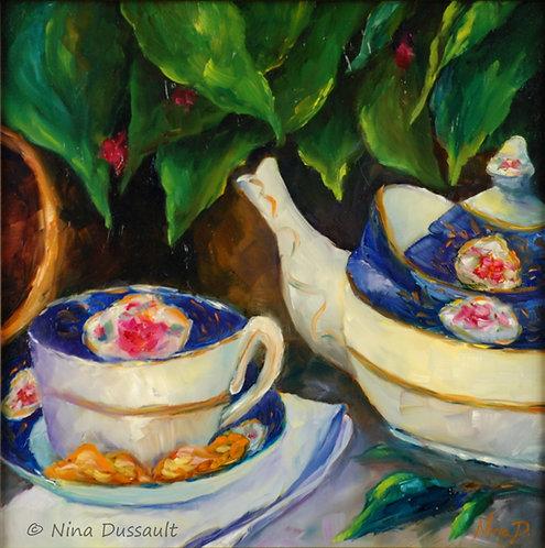 Heure du thé au jardin