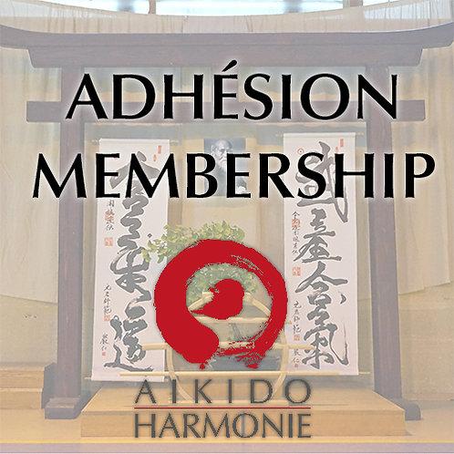 Adhésion à l'association Aïkido Harmonie 2020 - Association membership 2020